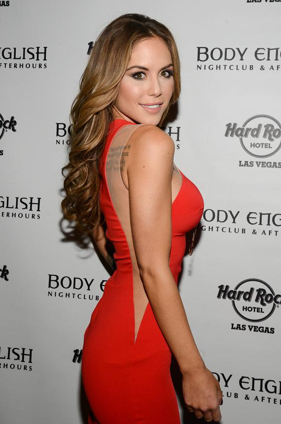 Brittney Palmer at UFC 168 After Party at Body English Nightclub in Hard Rock Las Vegas
