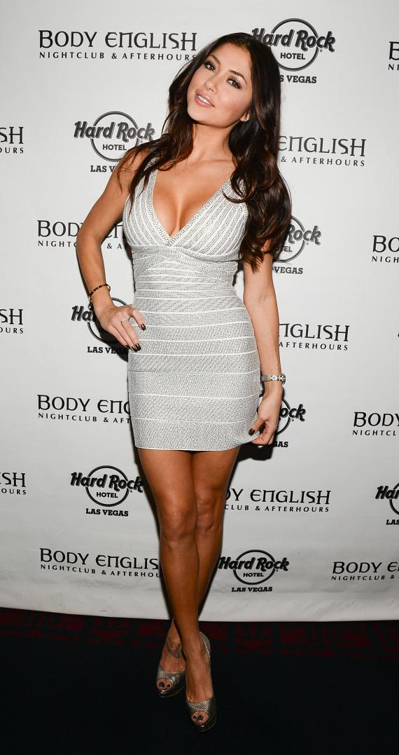 Brittney Palmer and Arianny Celeste Host UFC After Party at Body English Nightclub in Hard Rock Las Vegas