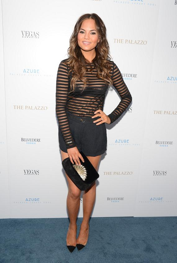 Cover Girl Chrissy Teigen at Azure Luxury Pool at The Palazzo