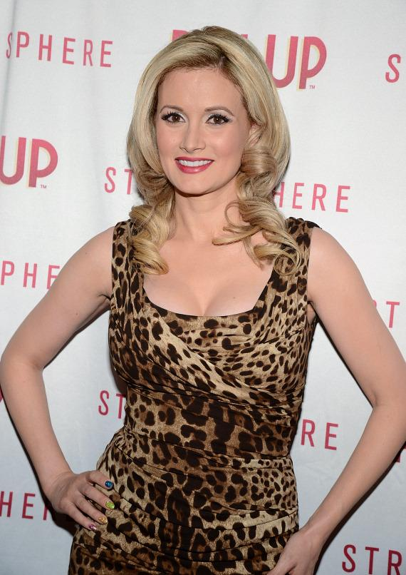 Holly Madison on red carpet for PIN UP at The Stratosphere Casino Hotel & Tower in Las Vegas