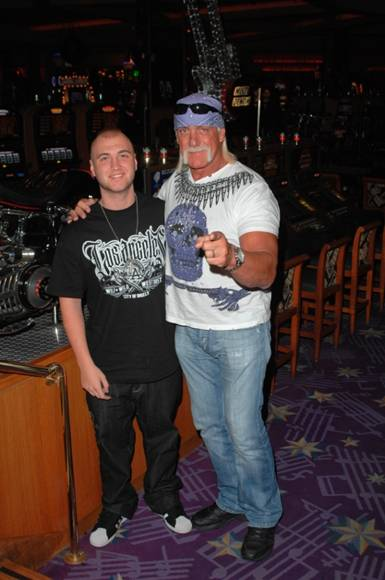 Hulk Hogan And Son Nick At Hard Rock Hotel In Las Vegas He was born nicholas rock johannsen on june 17, 1977, in las vegas, nevada, united states and he was raised in manhattan beach, california. son nick at hard rock hotel in las vegas