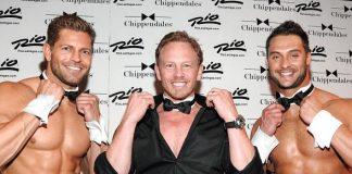 Ian Ziering with Chippendales
