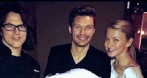 Kerry Simon, Ryan Seacrest and Julianne Hough at Simon Restaurant & Lounge at The Palms