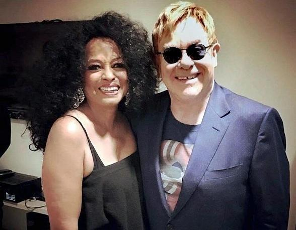 Elton John Attends Diana Ross' Residency