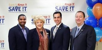 Nevada State Senator, Majority Leader, Steven Horsford, Las Vegas Mayor Carolyn Goodman, Nevada State Senate member, District 10, Ruben Kihuen and United Way of Southern Nevada President and CEO Cass Palmer