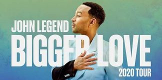 John Legend Announces Bigger Love 2020 Tour; Iconic Musician to Perform at The Cosmopolitan of Las Vegas Sept. 19