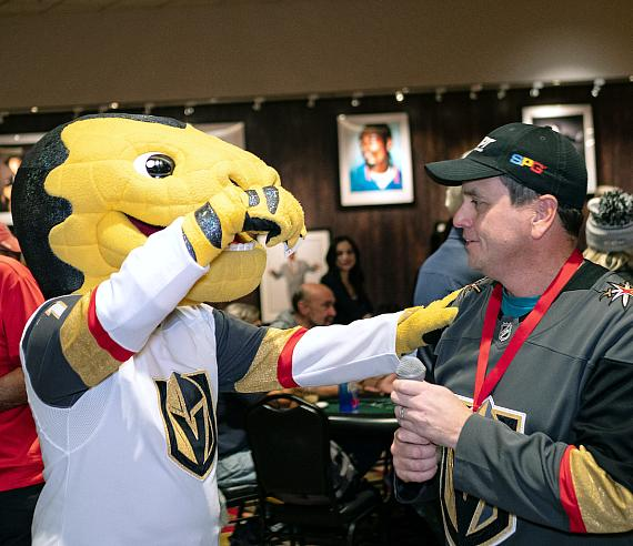 """""""Chance"""" the VGK mascot played this year"""