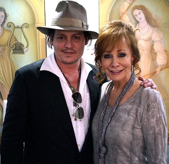 """Johnny Depp attends """"Reba, Brooks & Dunn: Together in Vegas"""" at The Colosseum at Caesars Palace"""