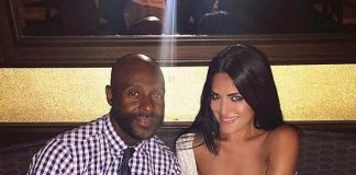NFL Legend Jerry Rice and local realtor Mahsheed Barghisavar spotted at Morela in The Palazzo