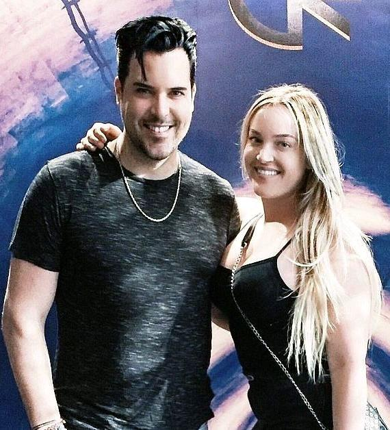 Singer Frankie Moreno and Lacey Schwimmer at Reality Escape in Las Vegas
