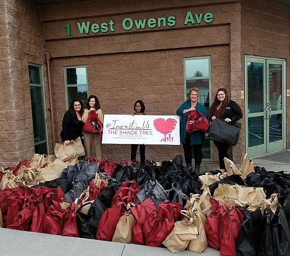 Lakeside Weddings & Events Donates 168 Necessity Bags to The Shade Tree in Las Vegas