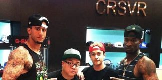 San Francisco 49ers Colin Kaepernick and friend at CRSVR inside The Cosmopolitan of Las Vegas