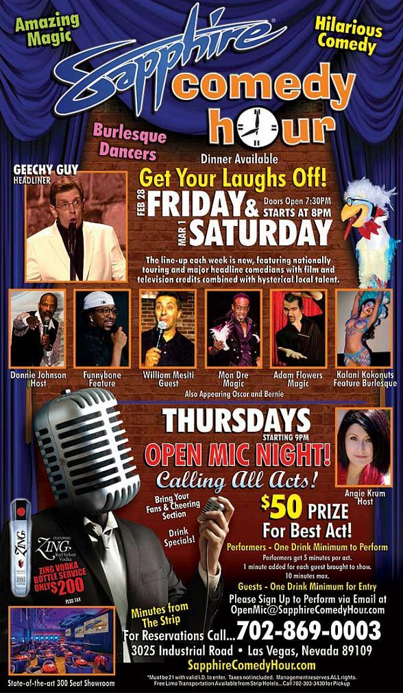 Geechy Guy to Headline Sapphire Comedy Hour at Sapphire Las Vegas Friday, Feb. 28 and Saturday, Mar. 1
