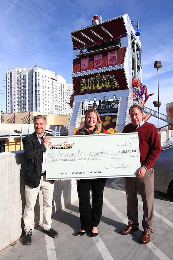 Fremont Street Experience Raises $15,940 for American Heart Association from SlotZilla Revenue