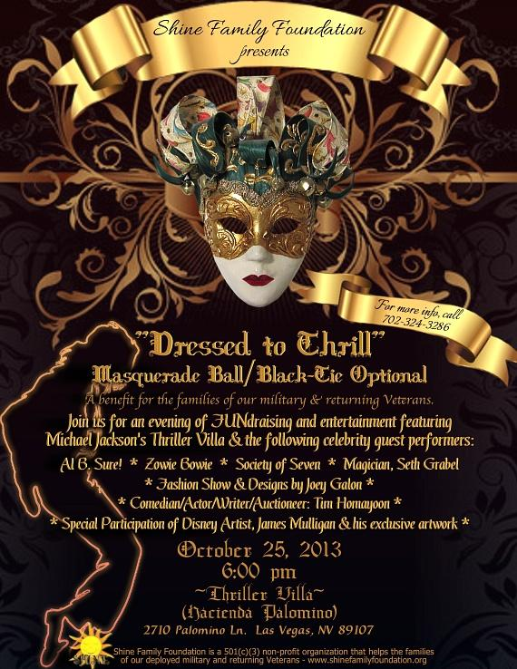 """Shine Family Foundation hosts """"Dressed To Thrill"""" at The Thriller Villa"""