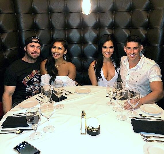 Instagram Fitness Models Jessica Arevalo, Genevieve Ava and Lauren Drain Dine at Andiamo Italian Steakhouse