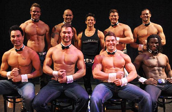 Jeff Timmons performs in Chippendales