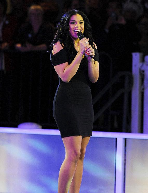 Jordin Sparks performs at The Venetian's Ice Skating Rink in Las Vegas