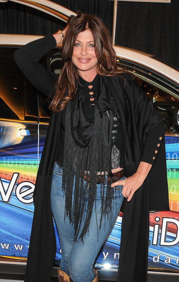 Kelly LeBrock in Velodyne Acoustics Booth at CES