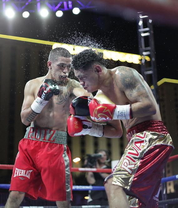Knockout Night Main Event Fighters Hanzel 'Rudeboy' Martinez and Erik Ruiz at DLVEC in Las Vegas
