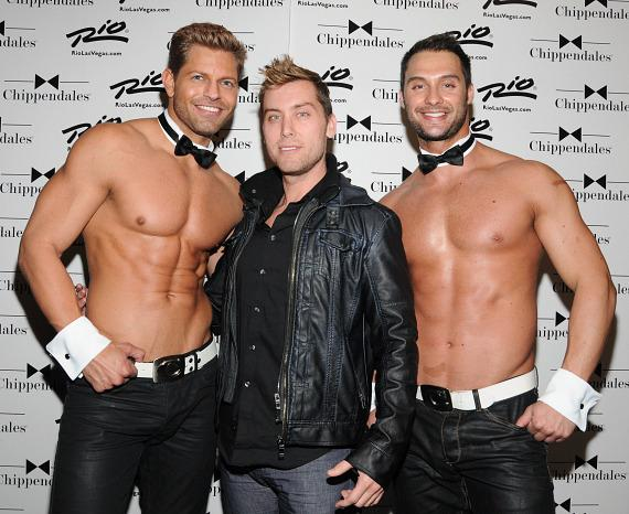 Lance Bass with Chippendales