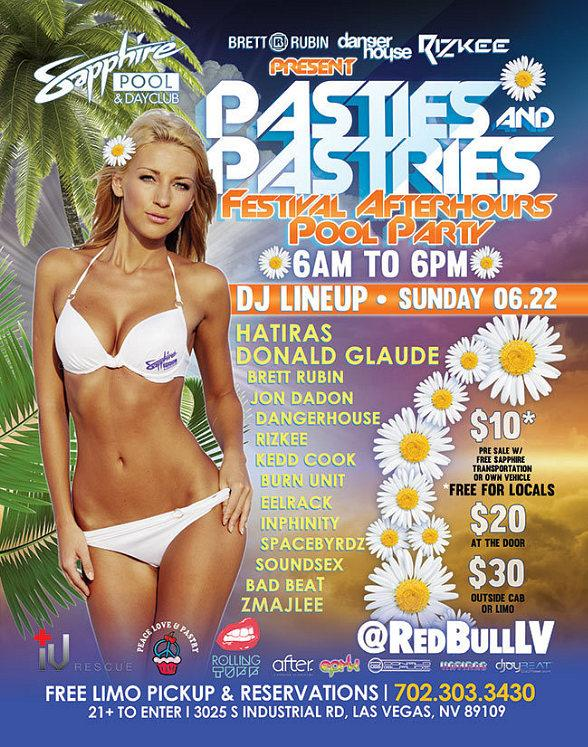 """Pasties and Pastries"" Festival After Party at Sapphire Pool and Day Club, Sunday, June 22"