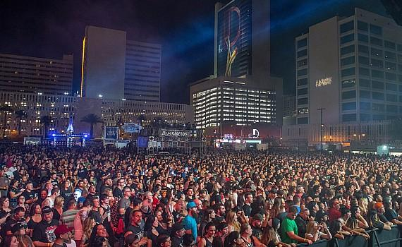 Las Rageous crowd shot from DLVEC Main Stage in Las Vegas