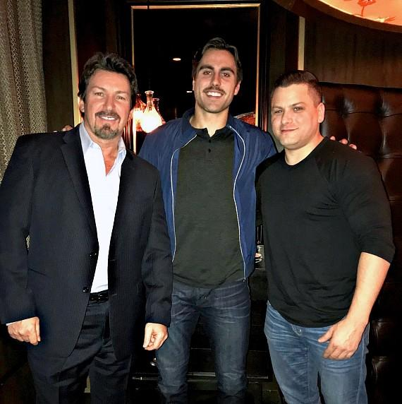 Golden Knights Forward Alex Tuch Dines at Andiamo Italian Steakhouse