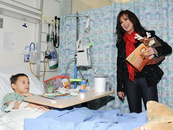 Marie with patient at Children's Hospital of Nevada at University Medical Center