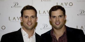 US Open Doubles Champions Bob and Mike Bryan Celebrate at LAVO
