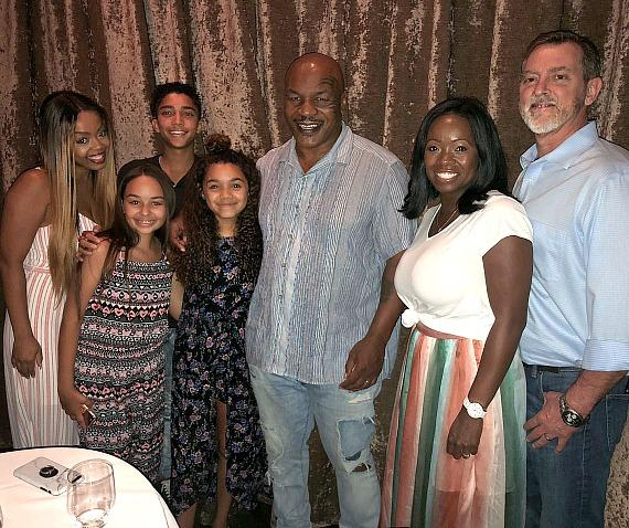 """""""Skyscraper"""" Actress McKenna Roberts with Former Undisputed Heavyweight Boxing Champion Mike Tyson at Andiamo Italian Steakhouse Las Vegas"""