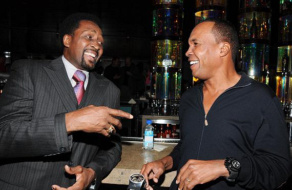 "Thomas ""Hit Man"" Hearns and Sugar Ray Leonard"