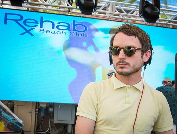 Elijah Wood and Zach Cowie DJ Set at REHAB