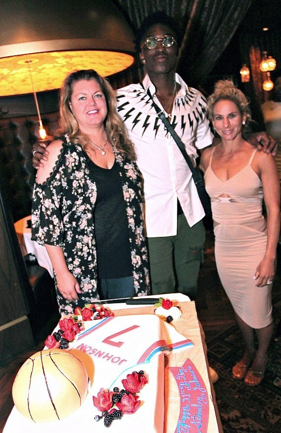 NBA Stanley Johnson, Jennifer Bell and Ginger Ressler Celebrate at Andiamo Las Vegas