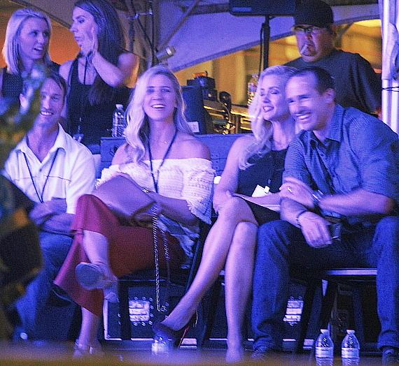 "NFL New Orleans Saints quarterback Drew Brees at ""Scars And Stripes"" at Downtown Las Vegas Events Center"