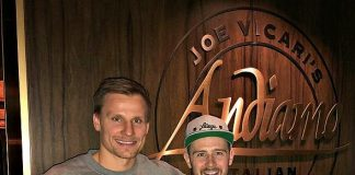 NHL Stars Dine at Andiamo Italian Steakhouse Before Playing Against Each Other