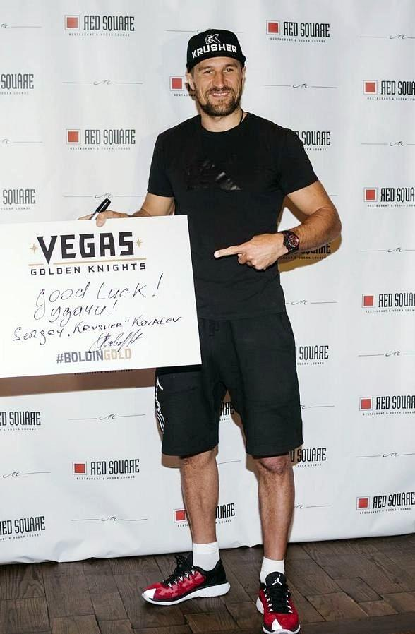 Russian Boxer Sergey Kovalev Holds Photo Opportunity at Red Square Restaurant inside Mandalay Bay Resort & Casino