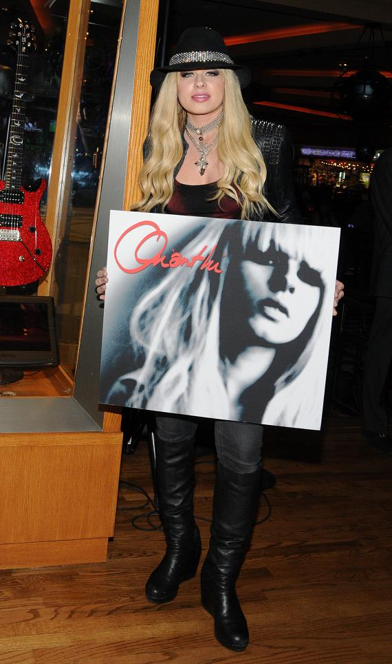 Musician Orianthi Honored with Memorabilia Case at Hard Rock Hotel Las Vegas
