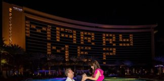 Red Rock Resort Casino, Resort & Spa Illuminates Local Couple's Engagement