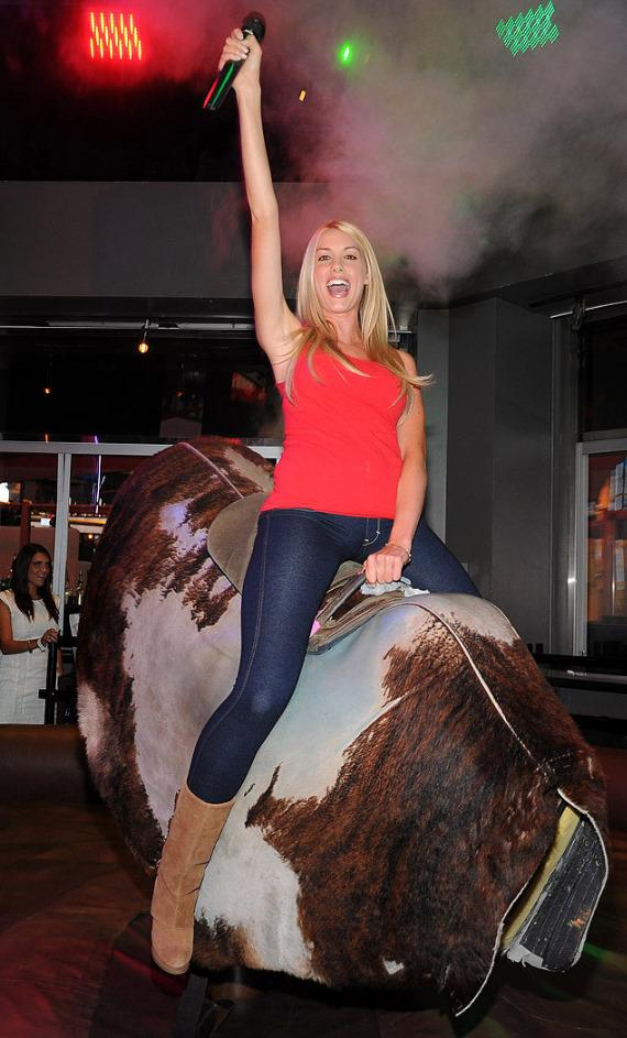 Heather Rae Young Hosts 'Playmate Bikini Bull Riding' at PBR Rock Bar & Grill