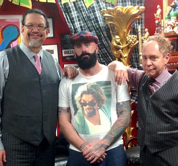 2010 World Series Champion pitcher Brian Wilson at Penn & Teller at Rio All-Suite Hotel & Casino