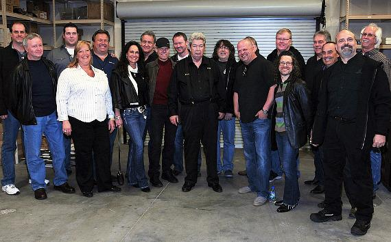 """The """"Old Man"""" with Randy Travis and his entourage"""