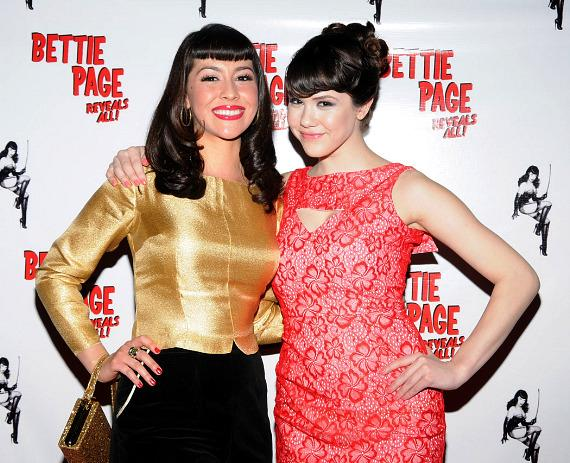 Producer/director Mark Mori with Bettie Page spokesperson and Playmate of the Year Claire Sinclair