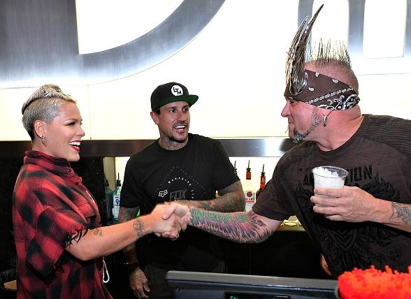 Carey Hart's Good Ride Rally for Charity Kicked Off at the D Casino Hotel Las Vegas with Special Guest PINK