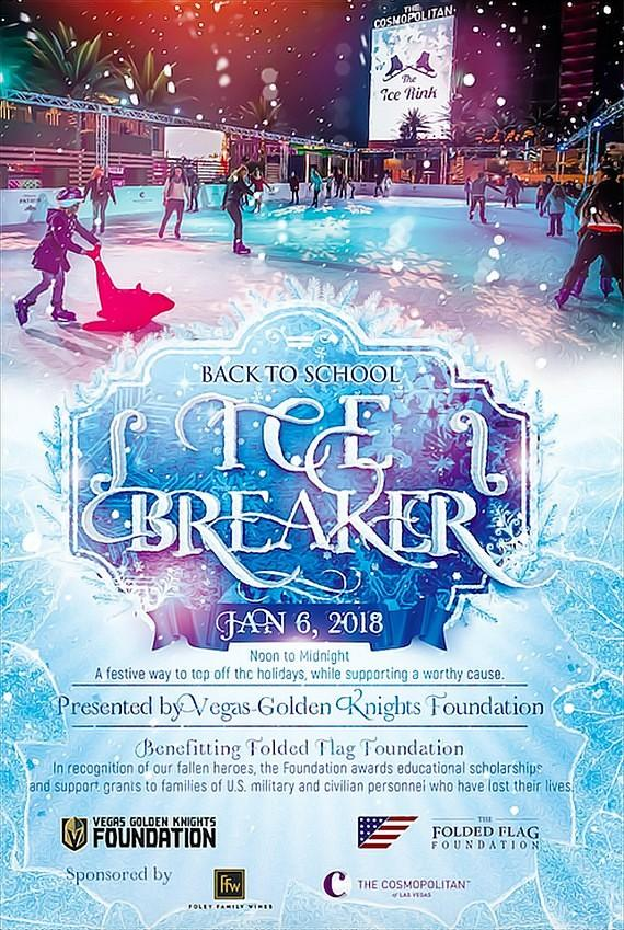 TODAY: Vegas Golden Knights Foundation Ice Skating Benefit for Folded Flag Foundation