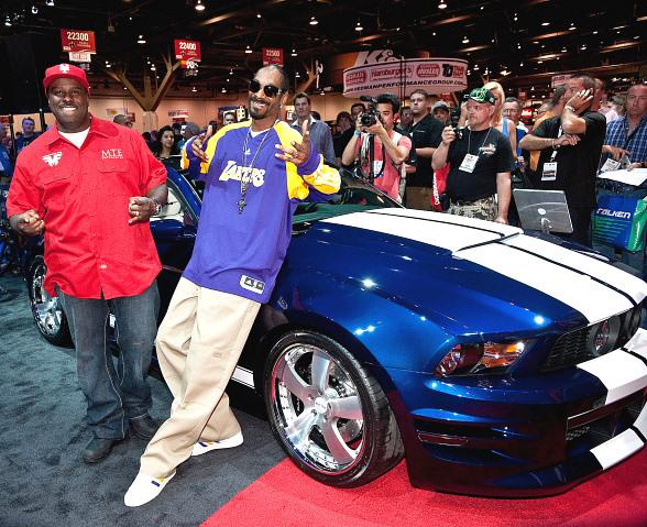 Rapper Snoop Dog Shows Off His Tricked Out Ford Mustang at SEMA in Las Vegas
