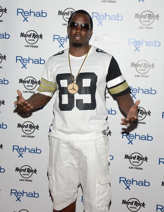 Puff Daddy arrives at REHAB at Hard Rock Hotel & Casino in Las Vegas