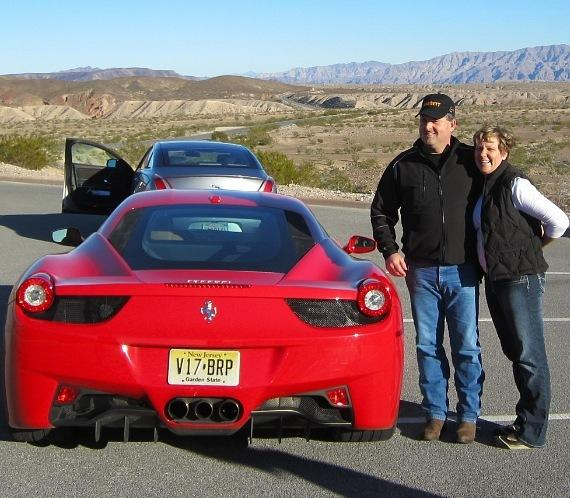 Andy Spinks with the Ferrari 458 Italia-570