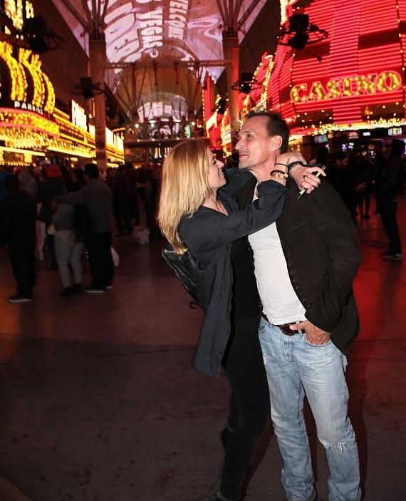 Actor Robert Knepper and wife Nadine Kary at the Fremont Street Experience Las Vegas