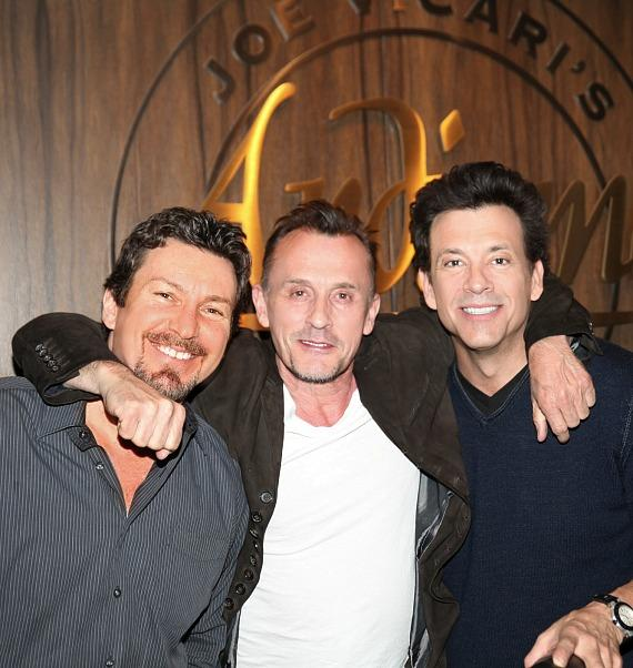 The D Executive Richard Wilk, Actor Robert Knepper and Actor/Producer Marklen Kennedy at Andiamo Las Vegas